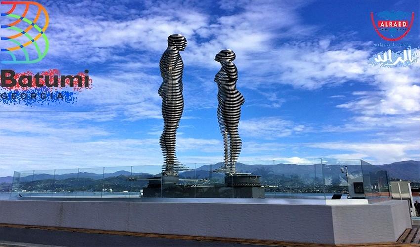 تمثال الحب التمثال المتحرك جولة مدينة باتومي جورجيا